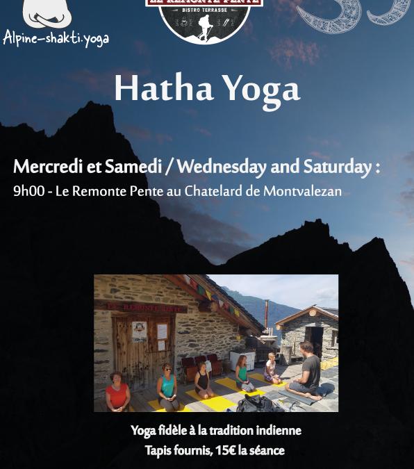 Séances de Hatha Yoga au Remonte-Pente à Montvalezan la Rosière