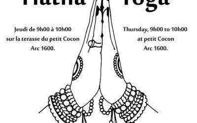 Séances de Hatha Yoga au Petit Cocon à Arcs 1600